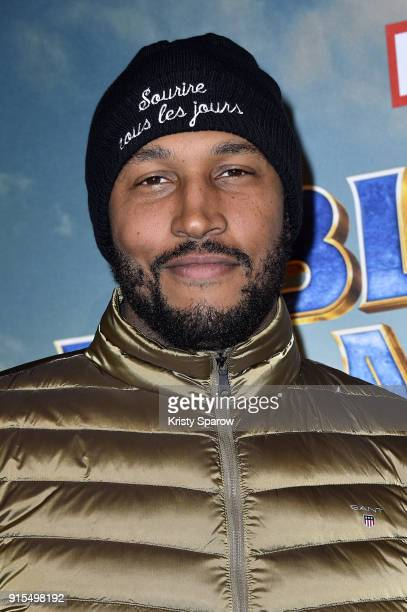 Boris Diaw attends the 'Black Panther' Paris Special Screening at Le Grand Rex on February 7 2018 in Paris France