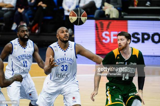 Boris Diaw of Levallois and Brian Conklin of Limoges during the Pro A match between Levallois and Limoges on October 7 2017 in LevalloisPerret France