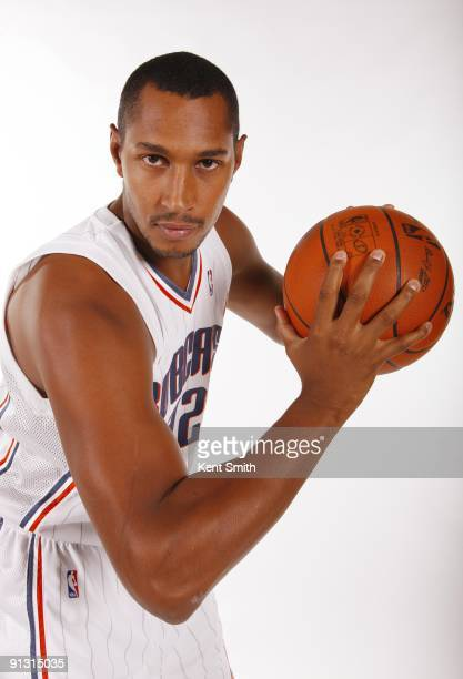 Boris Diaw of the Charlotte Bobcats poses for a portrait during 2009 NBA Media Day at Time Warner Cable Arena on September 28 2009 in Charlotte North...