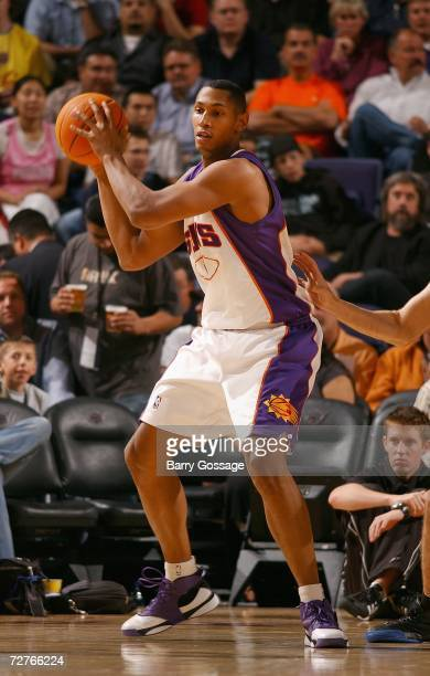 Boris Diaw of the Phoenix Suns posts up during the NBA game against the Philadelphia 76ers at US Airways Center on November 17, 2006 in Phoenix,...