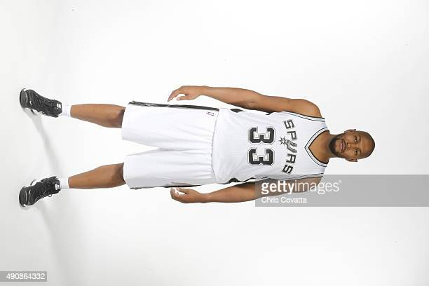 Boris Diaw of the San Antonio Spurs poses for a portrait during media day  at the 14e80d3f2