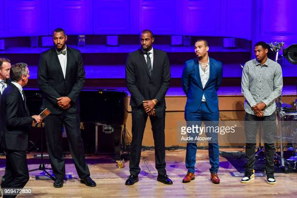 Boris Diaw Zachery Peacock Justin Cobbs and Gerald Robinson nominated fot the Jeep Elite All Star Team awards during the Trophy Award LNB Basketball...
