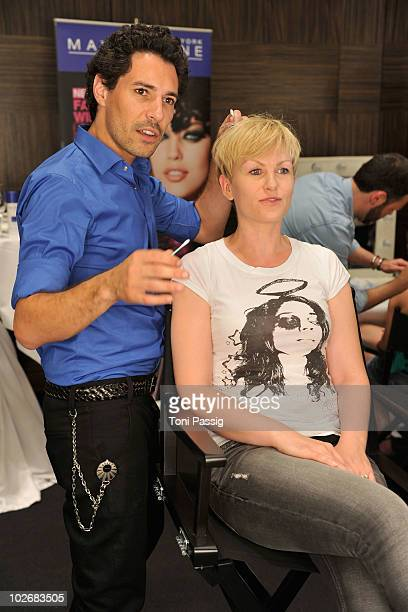 Boris Entrup and Karen Heinrichs seen backstage at the Guido Maria Kretschmer Show during the Mercedes Benz Fashion Week Spring/Summer 2011 at Hotel...