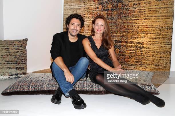 Boris Entrup and Sabrina Staubitz attend the Jan Kath Showroom Opening on October 11 2017 in Hamburg Germany