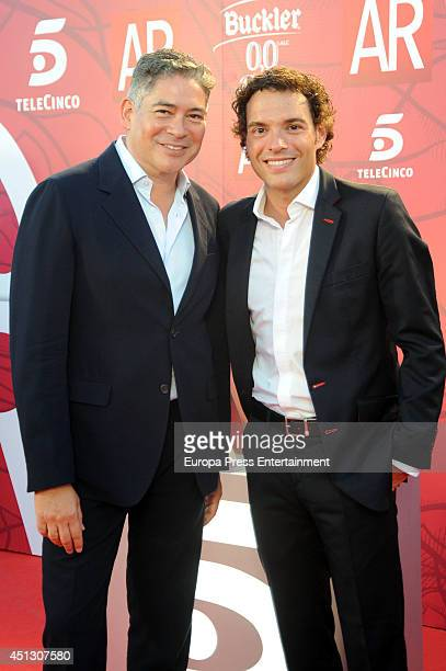 Boris Izaguirre and Antonio Rossi attend El Programa de Ana Rosa's 10th anniversary party on June 26 2014 in Madrid Spain