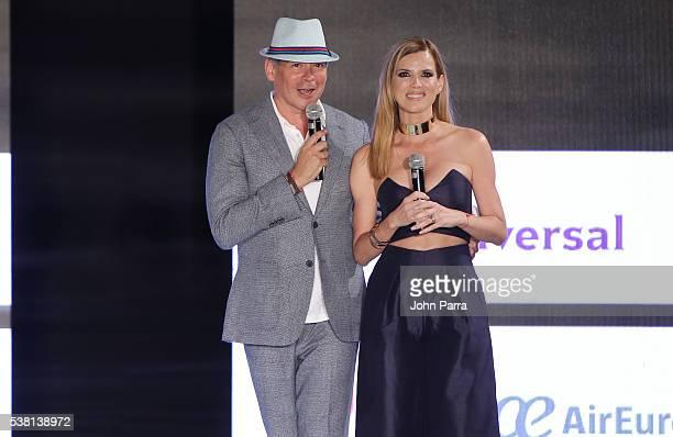 Boris Izaguirre and MARITZA RODRIGUEZ host the Miami Fashion Week at Ice Palace on June 3 2016 in Miami Florida