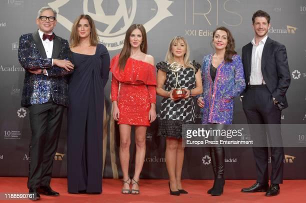 Boris Izaguirre and Paula Prendes attend 'Iris Academia de Television' awards at Nuevo Teatro Alcala on November 18 2019 in Madrid Spain