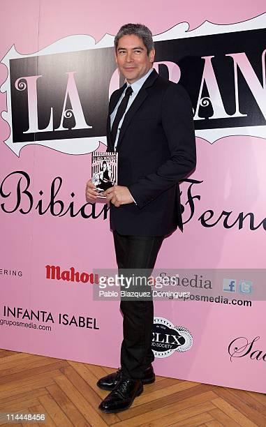 Boris Izaguirre attends 'La Gran Depresion' premiere at Infanta Isabel Theatre on May 19 2011 in Madrid Spain