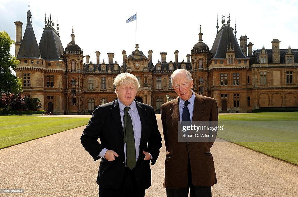 Boris Johnson and Lord Rothschild pose in front of Waddesdon Manor... News  Photo - Getty Images