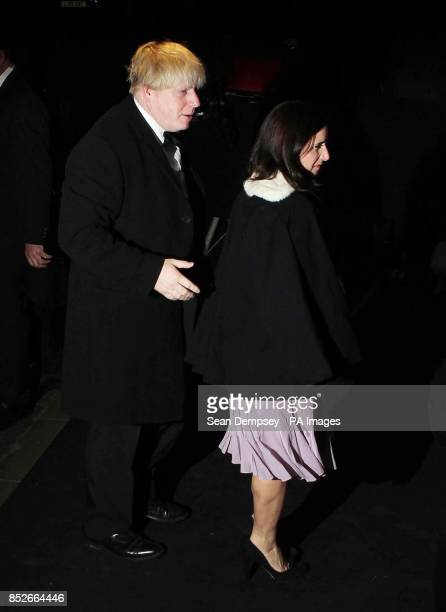 Boris Johnson and Marina Wheeler arrive at the 59th London Evening Standard Theatre Awards at the Savoy Hotel in central London