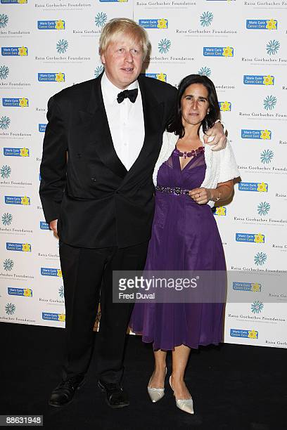 Boris Johnson and Marina Wheeler attend the fourth annual fundraising gala dinner for the Raisa Gorbachev Foundation at Hampton Court Palace on June...
