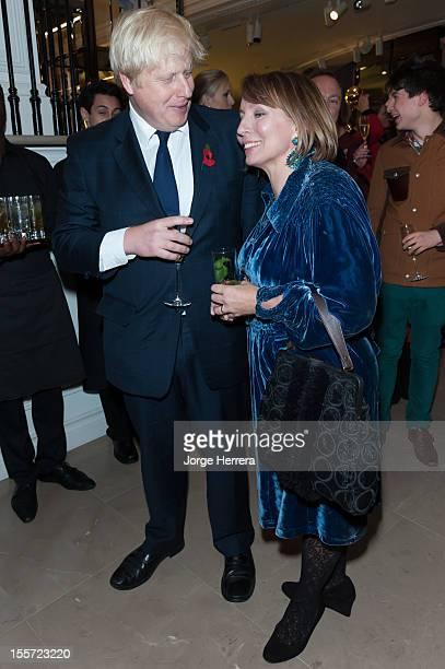 Boris Johnson and Sarah Sands attend the launch of the Evening Standard 1000 Most Influential Londoners in asociation with Burberry at the Burberry...