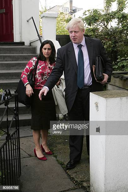 Boris Johnson and wife Marina Wheeler sighting in London on May 2 2008 in London England The London Mayoral election results will be announced later...