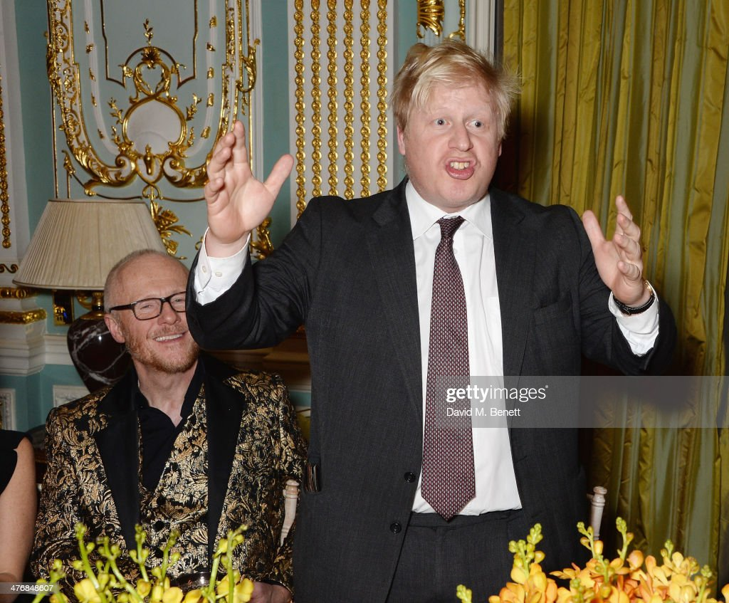Boris Johnson attend a dinner hosted by John Caudwell on March 5, 2014 in London, England.