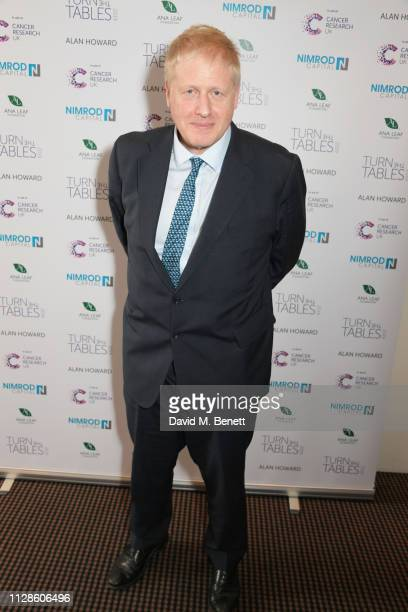 Boris Johnson attends Turn The Tables 2019 hosted by Tania Bryer and James Landale in aid of Cancer Research UK at BAFTA on March 4 2019 in London...