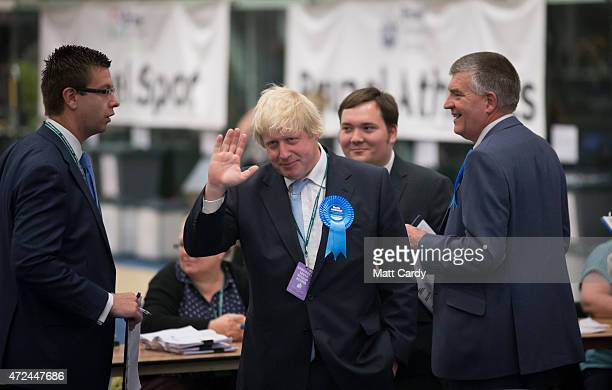 Boris Johnson Conservative candidate for Uxbridge attends the count at Brunel University London on May 8 2015 in Uxbridge England The United Kingdom...