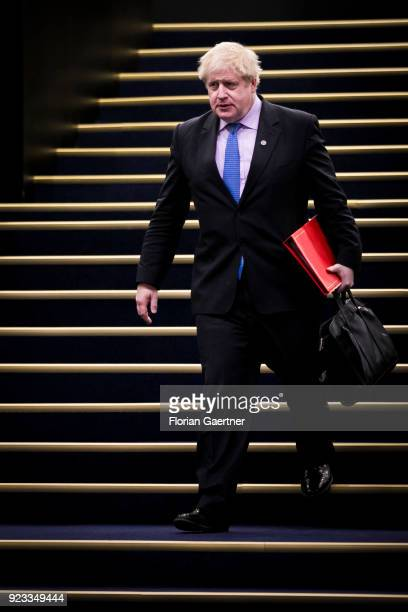 Boris Johnson Foreign Minister of the United Kingdom is pictured on February 15 2018 in Sofia Bulgaria
