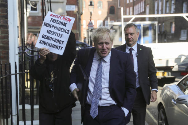 GBR: Conservative Party Leadership Favourite Boris Johnson In Westminster