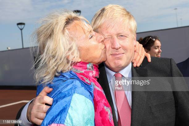 Boris Johnson is kissed by a member of the public during a visit to the Port of Dover Ltd., as part of his Conservative Party leadership campaign...