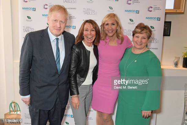 Boris Johnson Kay Burley Tania Bryer and Shadow Secretary of State for Foreign and Commonwealth Affairs Emily Thornberry attend Turn The Tables 2019...