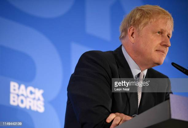 Boris Johnson launches his Conservative Party leadership campaign at the Academy of Engineering on June 12 2019 in London England