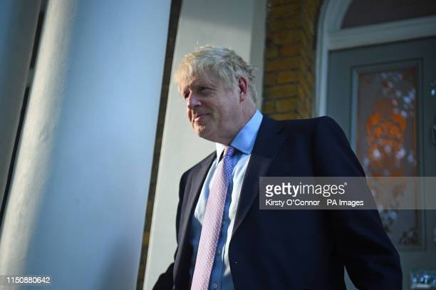 Boris Johnson leaving his home in south London ahead of ballots which will see the contenders for the Conservative party leadership reduced to two by...
