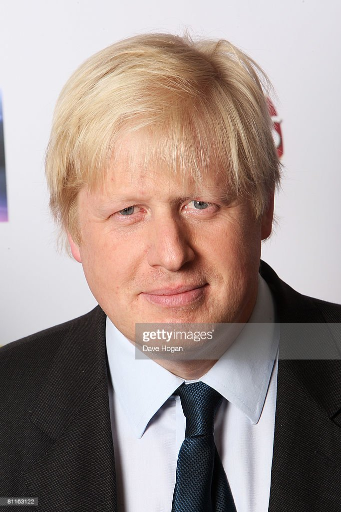 Boris Johnson, Mayor of London, poses in front of the winners' boards at the Britain's Best 2008 Awards at London Television Studios on May 18, 2008 in London, England. The award ceremony honours outstanding Britons in categories including business, art, television, music, film, sport and fashion.