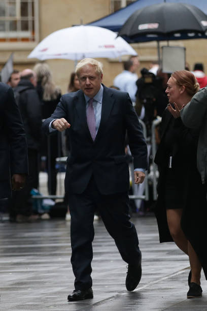 GBR: Conservative Leadership Hopefuls Debate At The BBC