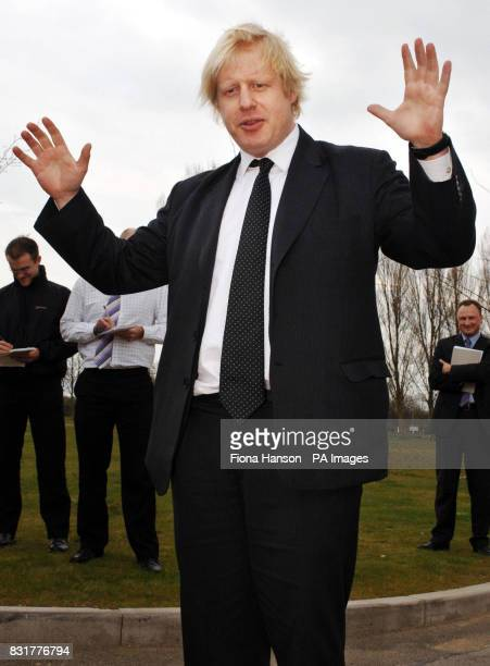 Boris Johnson MP for Henley and Conservative spokesman on Higher Education opens a footpath at the Environments Agency in Wallingford Oxon Friday...