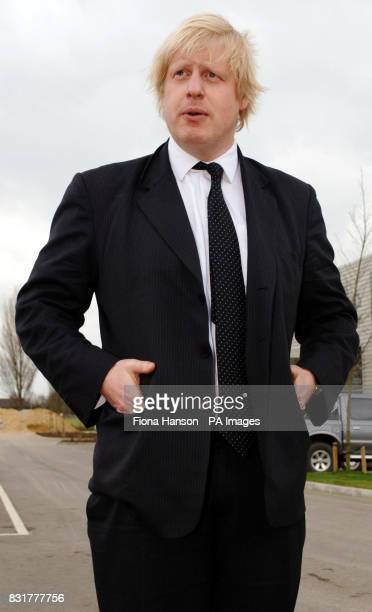 Boris Johnson MP for Henley and Conservative spokesman on Higher Education opens a footpath at the Environments Agency in Wallingford Oxon He later...