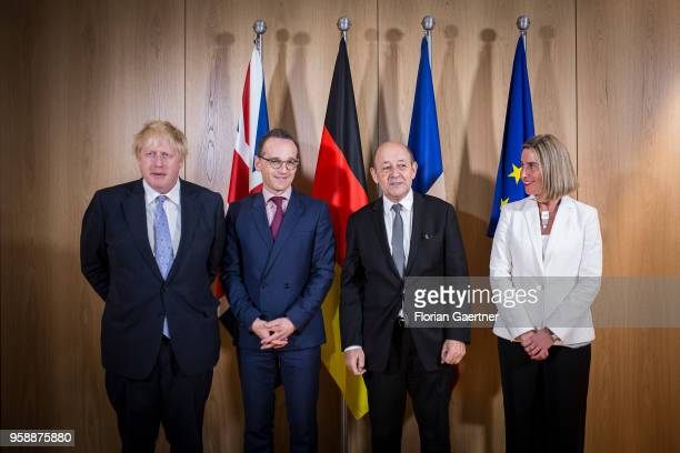 Boris Johnson, Secretary of State for Foreign and Commonwealth Affairs, German Foreign Minister Heiko Maas, Jean-Yves Le Drian, Minister for Foreign...
