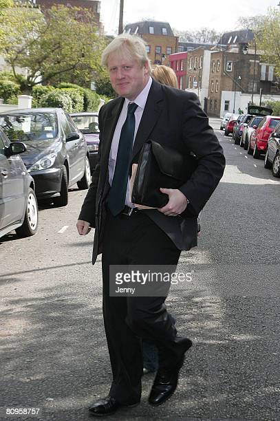Boris Johnson sighting in London on May 2 2008 in London England The London Mayoral election results will be announced later today
