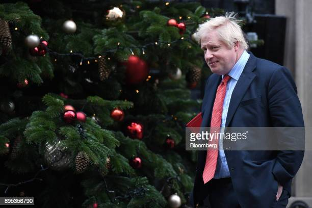 Boris Johnson UK foreign secretary departs following a cabinet meeting at number 10 Downing Street in London UK on Tuesday Dec 19 2017 European Union...