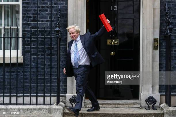 Boris Johnson UK foreign secretary leaves after attending a meeting of cabinet minsters at number 10 Downing Street in London UK on Tuesday June 5...
