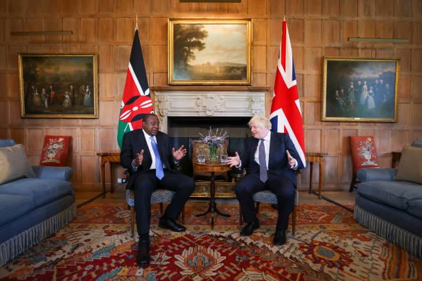 GBR: Kenya's President Kenyatta Visits U.K. Prime Minister at Chequers