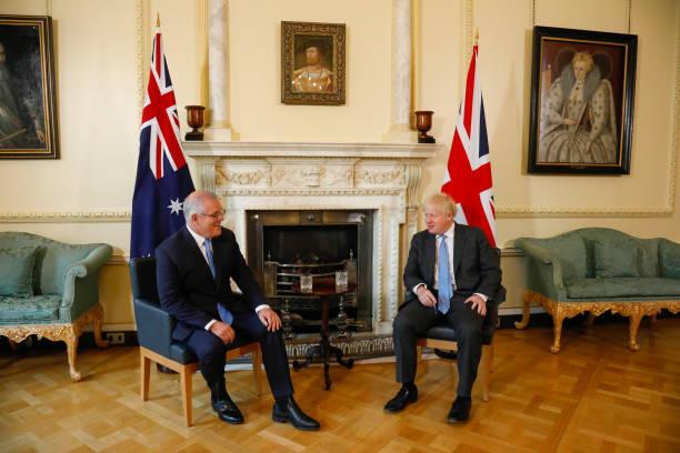 GBR: U.K. PM Johnson Holds Bilateral Meeting with Australian PM Morrison