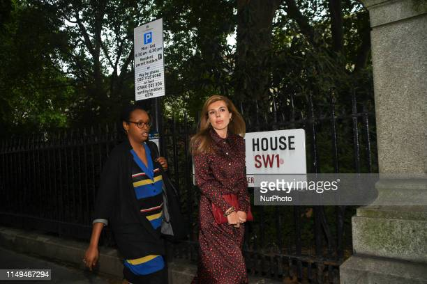 Boris Johnsons Carrie Symonds leaves the Academy of Engineering after attending Boris Johnsons Conservative Party leadership campaign Launch on June...