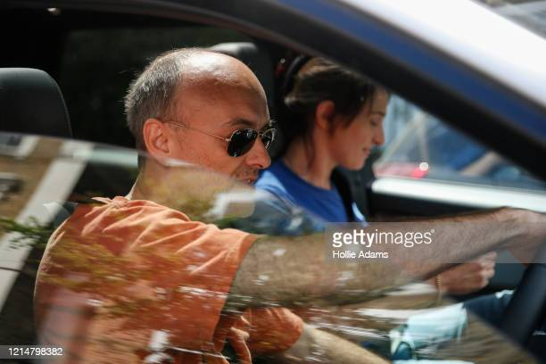 Boris Johnson's Chief Advisor Dominic Cummings and his wife Mary Wakefield leaving his home on May 23 2020 in London England On March 31st 2020...