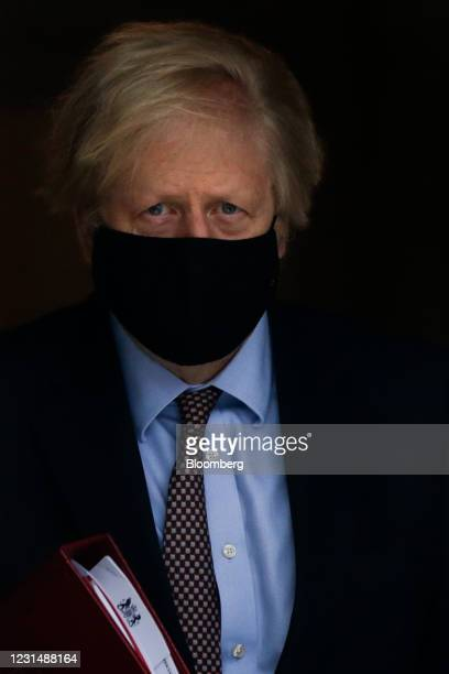 Boris Johsnon, U.K. Prime minister, departs from number 10 Downing Street in London, U.K., on Wednesday, March 3, 2021. U.K. Chancellor of the...