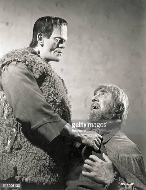 Boris Karloff and Bela Lugosi in a scene from 'Son of Frankenstein' Movie still 1939