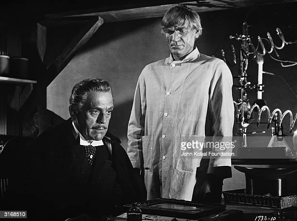 Boris Karloff as Mr Hyde in a scene from 'Abbott and Costello Meet Dr Jekyll and Mr Hyde' directed by Charles Lamont