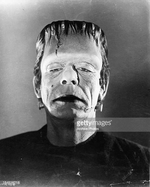 Boris Karloff as the monster in publicity portrait for the film 'Frankenstein' 1931