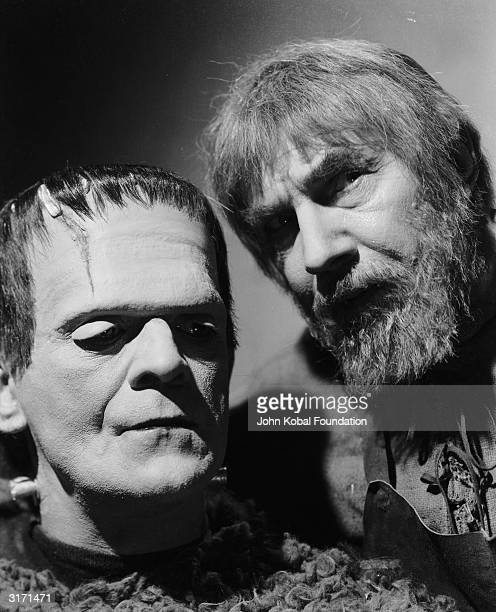 Boris Karloff as The Monster in 'Son of Frankenstein' directed by Rowland V Lee for Universal With him is Bela Lugosi as Ygor the evil shepherd...