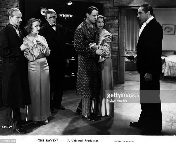 Boris Karloff Bela Lugosi and Irene Ware star in the horror film 'The Raven' based on a story by Edgar Allan Poe The film was directed by Lew Landers...