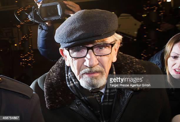Boris Khodorkovsky father of Mikhail Kodorkovsky speaks to the media outside Hotel Adlon on December 21 2013 in Berlin Germany Former Russian oil...