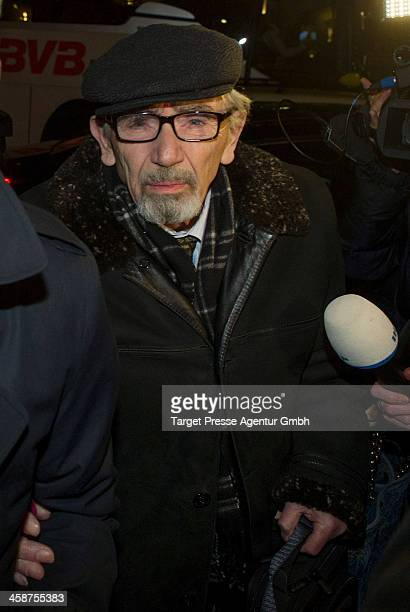 Boris Khodorkovsky the father of Mikhail Kodorkovsky speaks to the media outside Hotel Adlon on December 21 2013 in Berlin Germany Former Russian oil...