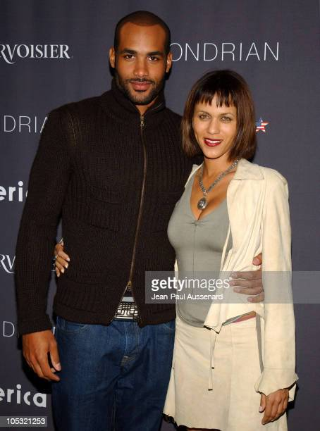 Boris Kodjoe and Nicole Parker during America Magazine Launch Party Arrivals at Skybar at Mondrian in Los Angeles California United States