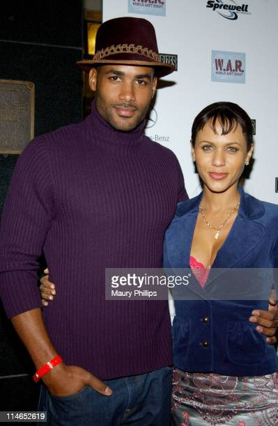Boris Kodjoe and Nicole Parker during CMX Sports Entertainment and War Productions Present 'Hoops Meet Hollywood' AllStar Party Arrivals at Cicada...