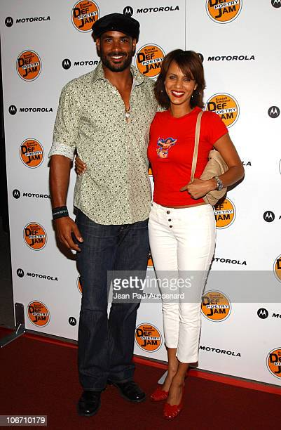 Boris Kodjoe and Nicole Parker during Russell Simmons and Stan Nathan Host Def Poetry Jam Los Angeles Kick Off For 32 City Tour Arrivals at Wadsworth...