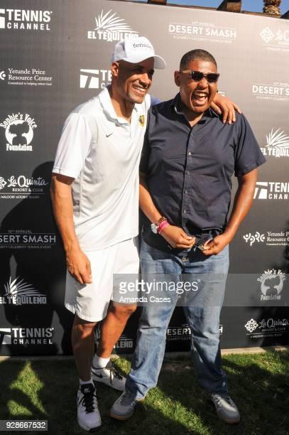 Boris Kodjoe and Omar Miller arrive at The 14th Annual Desert Smash Celebrity Tennis Event on March 6 2018 in La Quinta California